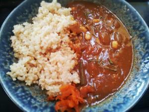 大豆と山菜の和風玄米カレー(SOLVIVA/難波)